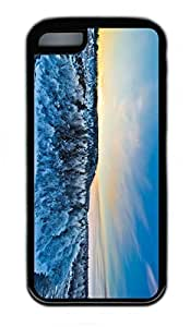 LJF phone case iphone 6 4.7 inch Case, Personalized Protective Rubber Soft TPU Black Edge Case for iphone 6 4.7 inch - Forest Cover