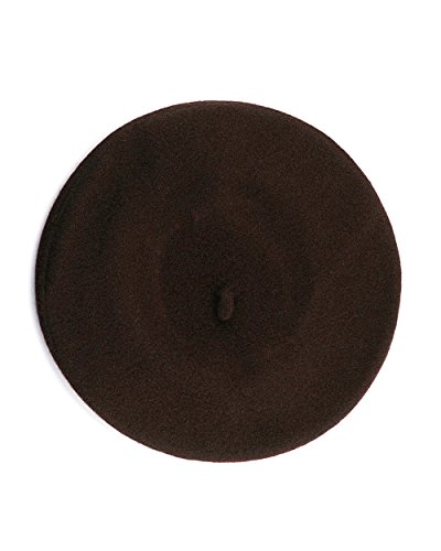 Womens Brown Wool - NYFASHION101 French Style Lightweight Casual Classic Solid Color Wool Beret, Brown