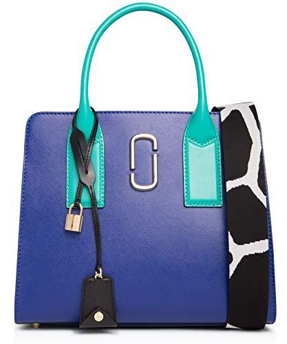 Marc Jacobs Big Shot Saffiano Leather Tote Bag, Academy Blue Multi