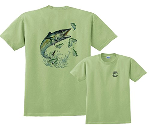 Kingfish Long Sleeve - Fair Game Kingfish Fishing T-Shirt-Pistachio-2x
