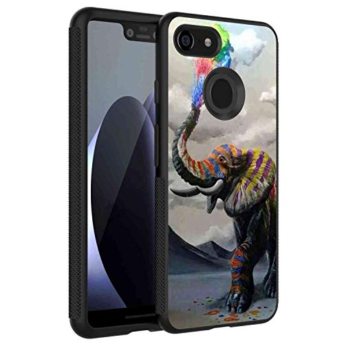 (Google Pixel 3 XL Phone Case (2018) 6.3in Colored Elephant)