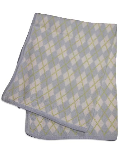 Hartstrings Childrens Clothing - Hartstrings - Baby Boys Receiving Blanket, Light Blue, Lime 31751-onesize