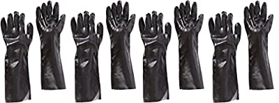 "West Chester 12018 18"" Chemical JSEKOzx Resistant Gloves, Large, Black (Pack of 4 Pairs)"
