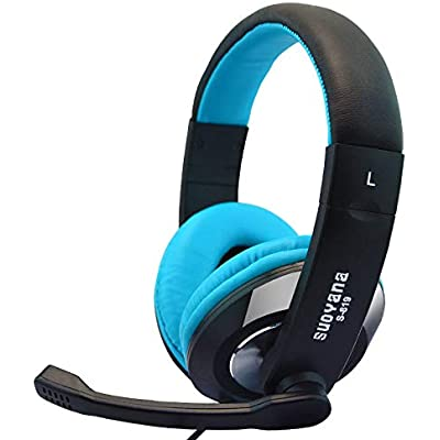 Head-Mounted Computer Headset Game Professional Electronic Competition Voice Headset Blue And Black
