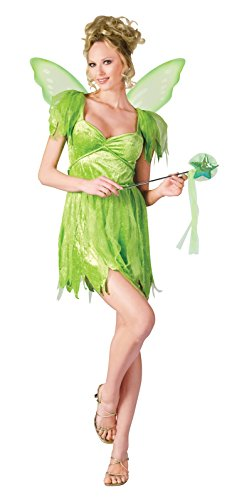 Fun World Women's Neverland Fairy, Green, M/L Size 10-14