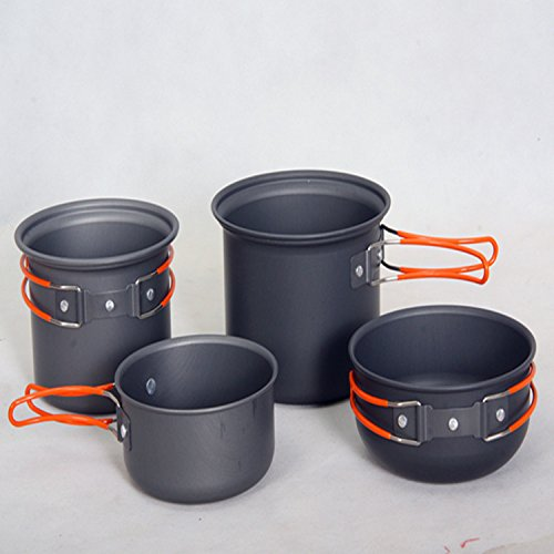 Outdoor Camping Cooking Sets Pot Portable Picnic Pots for 2-4 Person