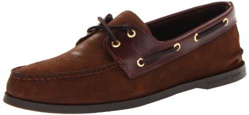 Sperry 0195 - Náuticos de cuero para hombre, color marrón, talla 44,5 Brown/Buck Brown