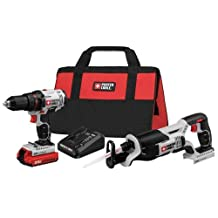 PORTER-CABLE 20V MAX Cordless Lithium-Ion Drill Driver and Reciprocating Saw Combo Kit (PCCK603L2)