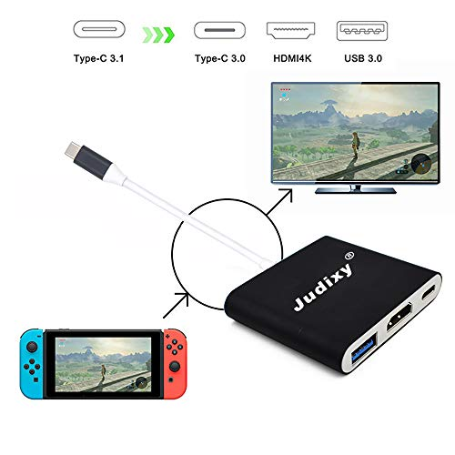 HDMI Type C Hub Adapter for Nintendo Switch, HDMI Converter Dock Cable for Switch by JUDIXY