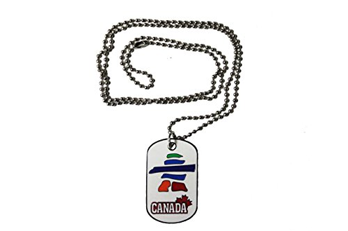 CANADA - MAPLE LEAF , INUSHUK DOG TAG On Ball Chain .. .. - Canada Ball Chain