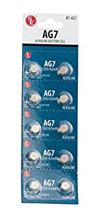 SE AG7 Alkaline Button Cell Batteries (10 PC.) - BT-AG7 (B001NXFXZA) | Amazon price tracker / tracking, Amazon price history charts, Amazon price watches, Amazon price drop alerts