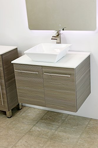 Cheap windbay 30 wall mount floating bathroom vanity sink for Cheap toilet and sink set