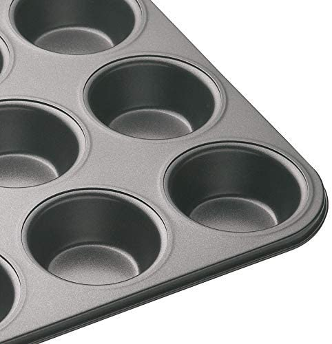 1 Bahob/® 12 Hole Non Stick Cupcake Tray Muffin Pan Baking Moulds 6cm Hole Cup Pack of 1,2,4