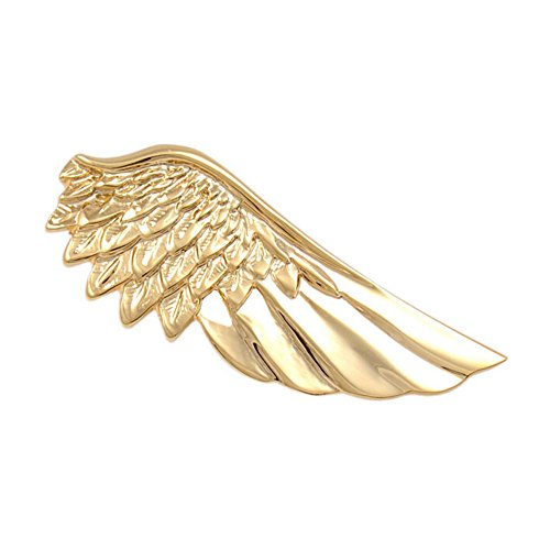 ALBEST Jewelry Gold Plated Unique Angel Wing Tie Clip, 2 Inches (Angel Wing)