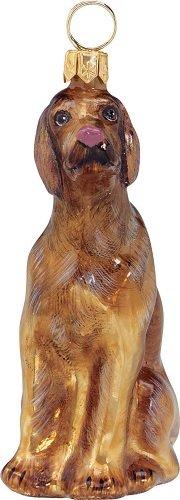Joy-To-The-World-Hungarian-Vizsla-Dog-Polish-Blown-Glass-Christmas-Ornament