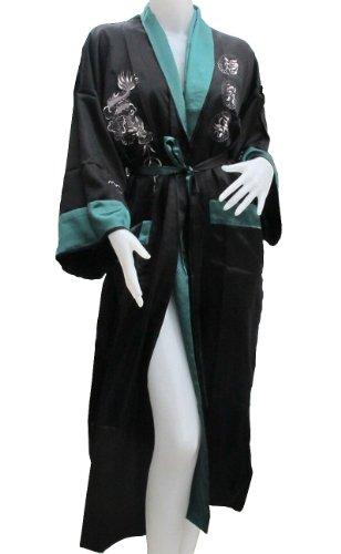 Dragon Design Kimonos - Authentic Thai Dragon Kimono- Reversible- Jade Green Color