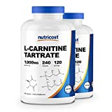 Nutricost L-Carnitine Tartrate 500mg, 240 Capsules - 1000mg Per Serving (2 Bottles)