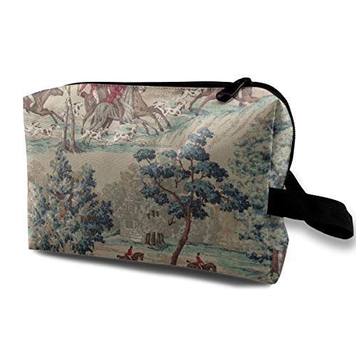 Riding Horse Cosmetic Bags Makeup Organizer Bag Pouch Zipper Purse Handbag Clutch Bag]()