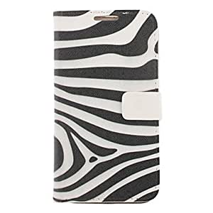 Zebra Stripe Drawing Pattern Faux Leather Hard Plastic Cover Pouches for Samsung Galaxy Note2 N7100