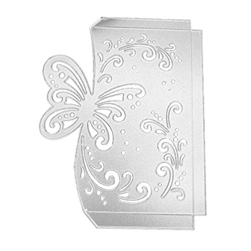 SODIAL Butterfly Envelope Greeting Card Metal Cutting Dies Stencil Scrapbooking Photo Album Card Paper Embossing Craft DI