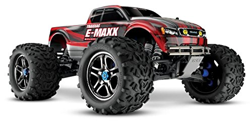 Traxxas E-Maxx Brushless: 1 10 Scale Electric Monster Truck with TQi Radio & TSM - Red