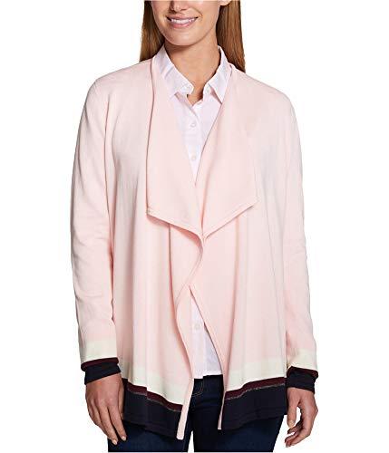 Tommy Hilfiger Womens Draped Cardigan Sweater, Pink, X-Small (Tommy Hilfiger Women Cardigan)
