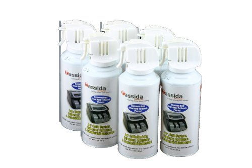 Cassida Air Duster for Currency and Coin Counter (CleanPro Air Duster)(Pack of 6)