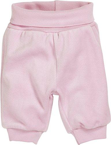 Schnizler Baby - Mädchen Hose Nicki Babyhose, Jogginghose mit elastischem Bauchumschlag, Oeko - Tex Standard 100, Gr. 56, Rosa (rose 14)