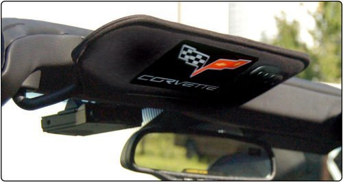 Corvette C6 CARBON FIBER Visor Airbag Decal Covers, for sale  Delivered anywhere in USA