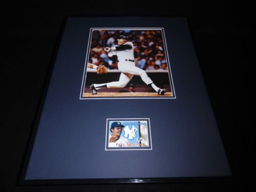 Reggie Jackson 16x20 Framed Game Used Uniform & Photo Display Yankees - Reggie Jackson Uniform