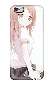 Tpu Case Cover For Iphone 5/5s Strong Protect Case - Brunettes School Uniformss Thigh Highs Usotsukiya Original Characters Oouso Design