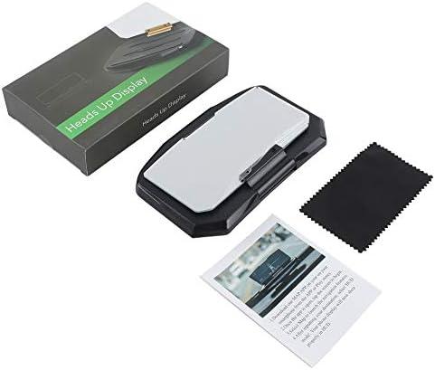 6.5インチHUDスクリーンヘッドアップディスプレイ車の安全自動GPSナビゲーション携帯電話ホルダープロジェクター高精細反射