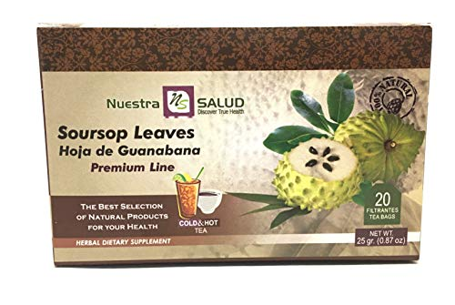 Hojas de Guanabana Soursop Leaves Filter Tea Bags Graviola (Best Fruits For Liver Cirrhosis)