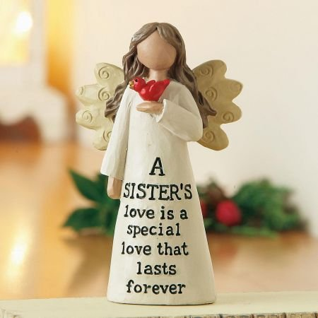 Current A Sister's Love Angel Resin Figurine - 4'' Tall