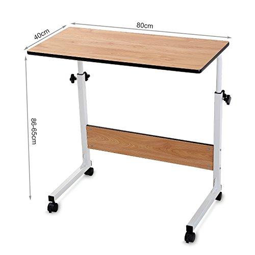 Couch laptop table on wheels lap desk adjustable table for for Sofa table on wheels