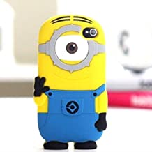 """iTitan Yellow Minion With One Eye {Minion Character} Soft and Smooth Silicone Cute 3D Fitted Bumper Gel Case for iPod 4 (4G) 4th Generation iTouch by Apple """"Durable and Slim Flexible Fashion Cover with Amazing and Creative Cartoon Design"""""""