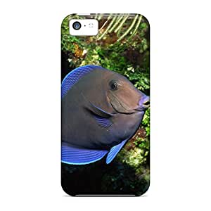 Fashion Protective Blue Fish Case Cover For Iphone 5c