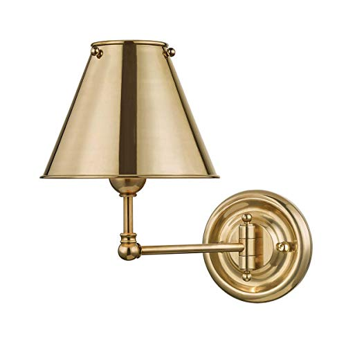 Classic No.1 Aged Brass Swing Arm Wall Lamp ()
