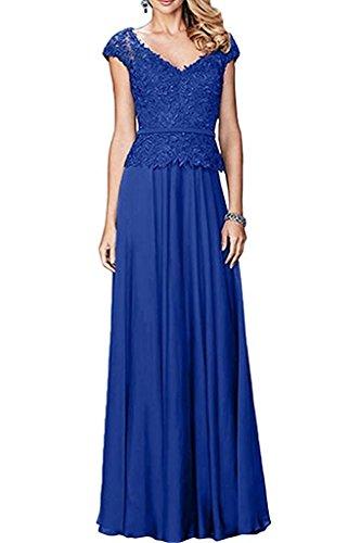 Ballkleider Abendkleider Langes Damen Kleider Braut Royal Blau La Marie Chiffon Partykleider Jugendweihe 6wCXq6YxO