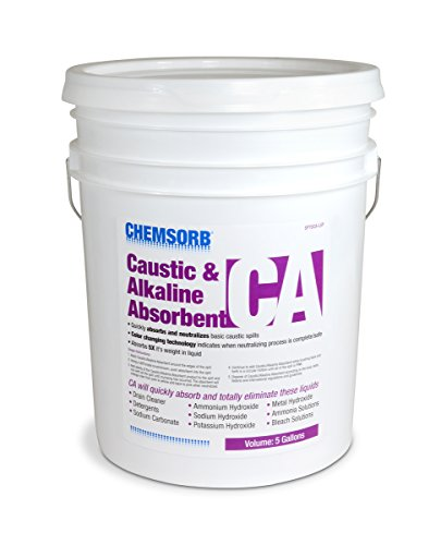 Chemsorb CA - Caustic & Alkaline Neutralizing Absorbent, 5 Gal. Pail, SP70CA-L5P, Fast-Acting Base Neutralizer Absorbent, Safe Color Changing Technology, Silica Free Neutralizer of Caustic -