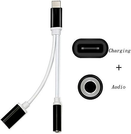 2 en 1 adaptador usb tipo C cable de carga Cargador Cable 3,5 mm ...