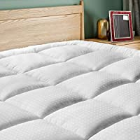 SOPAT Extra Thick Mattress Topper(Queen),Cooling Mattress Pad Cover,Pillow Top Construction(8-21Inch Deep Pocket),Double Border,Hypoallergenic Down Alternative Fill,Breathable