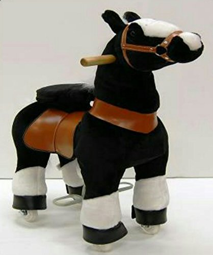 Wonders Shop USA Ride On Horse No Need Battery No Electric Just Walking Horse BLACK COLOR - Size SMALL for Children 2 to 5 Years Old