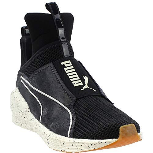 PUMA Women's Fierce Solstice Wn Sneaker, Black-Whisper White, 9.5 M US