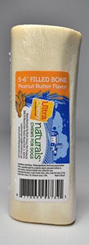Ultra Chewy Naturals 5-6 Filled Bone Peanut Butter Flavor - 5 Bones