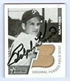 Ralph Kiner autographed Baseball Card (Forbes Field) Tan seat Pittsburgh Pirates 2001 Bowman