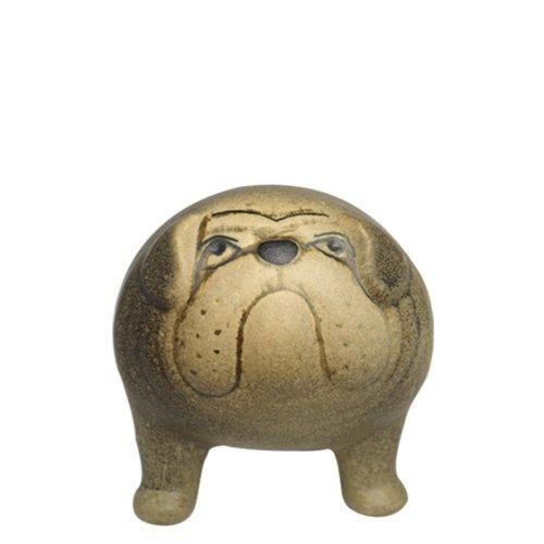 [リサラーソン] LISA LARSON ケンネル ブルドッグ (中) グレー Kennel Bulldog [並行輸入品] B00G8WTH3A