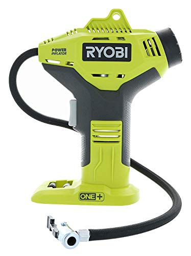 P737 18V ONE+ Portable Cordless Power Inflator for Tires, Battery Not Included (Full pack with pressure gauge) by Rynobi.