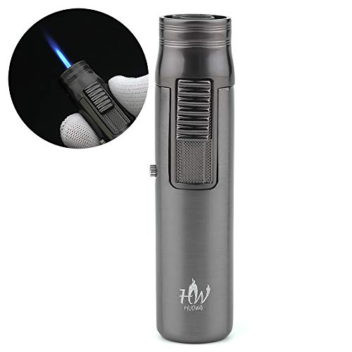 HUOWA Jet Torch Cigar Lighter, Butane Refillable Flame Lockable and Adjustable Windproof Cigarette Lighter