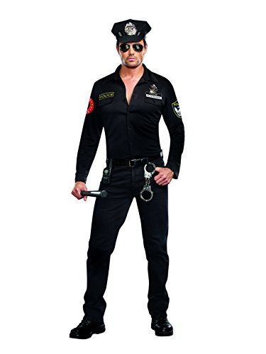 Dick Halloween Costumes (Dreamgirl Men's Sergeant Dick Spectacular Costume, Black,)